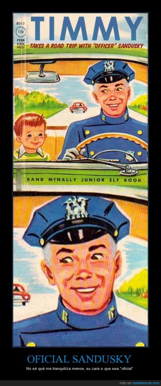 comillas,niño,oficial,pequeño timmy,policía