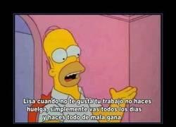 Enlace a Así hace huelga Homer Simpson