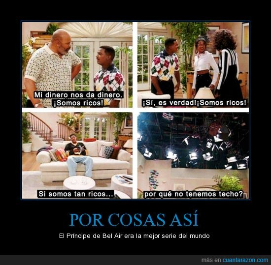decorado,dinero,focos,luces,principe de bel air,ricos,romper la cuarta pared,techo,will smith