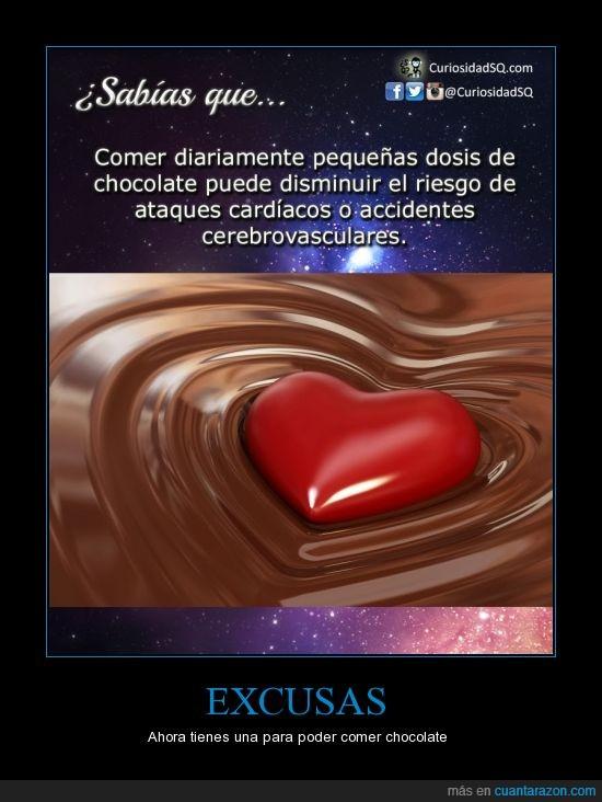 bueno,chocolate,comer,corazon,cuerpo,dosis,sano