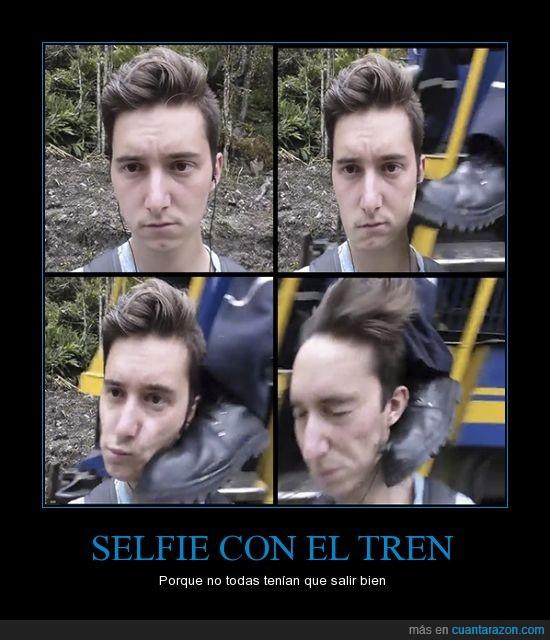 #selfie,chico,chofer,fail,mala,selfie,suerte,tren