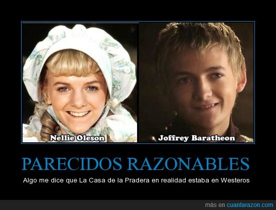 cara,igual,jack gleeson,joffrey baratheon,la casa de la pradera,little house on the prarie,misma,nellie oleson,parecido,SPOILER=BANEO TOTAL