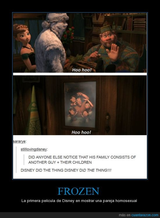 Anna,Disney,Frozen,Homosexualidad,Kristoff,Oaken,Ya era hora