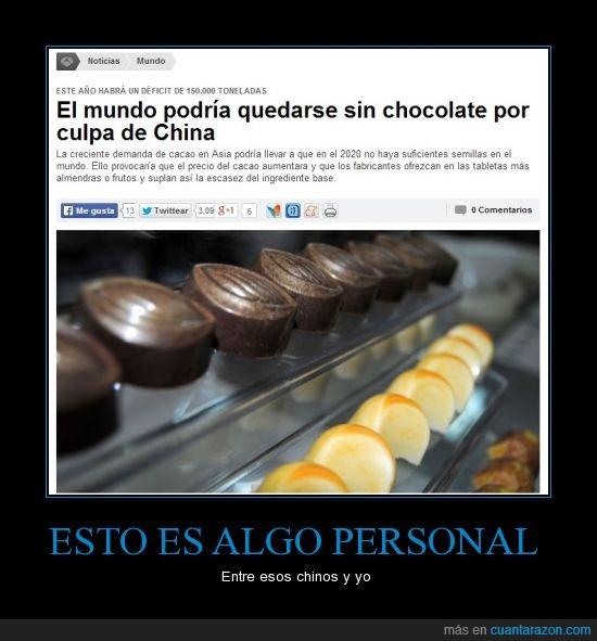acabar,china,chocolate,gastar,mundo,todo