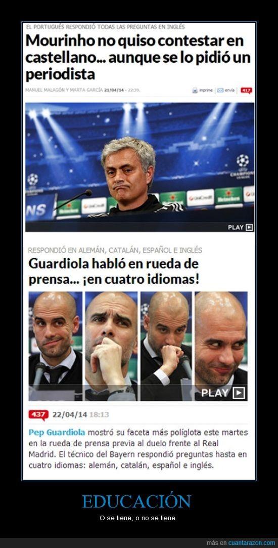 educacion,guardiola,hablar,mou,mourinho,pep