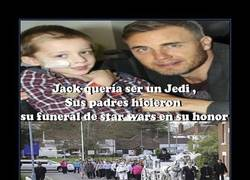 Enlace a Si estás sensible, este cartel no es para ti :'( ¡Adios, Jedi Jack!