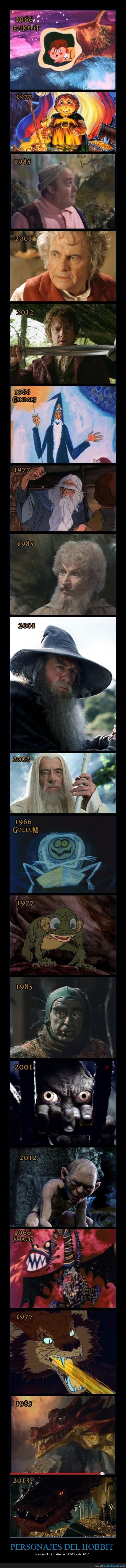 Bilbo,cutre,dragon,El Hobbit,Evolución,Gandalf,Gollum,smaug
