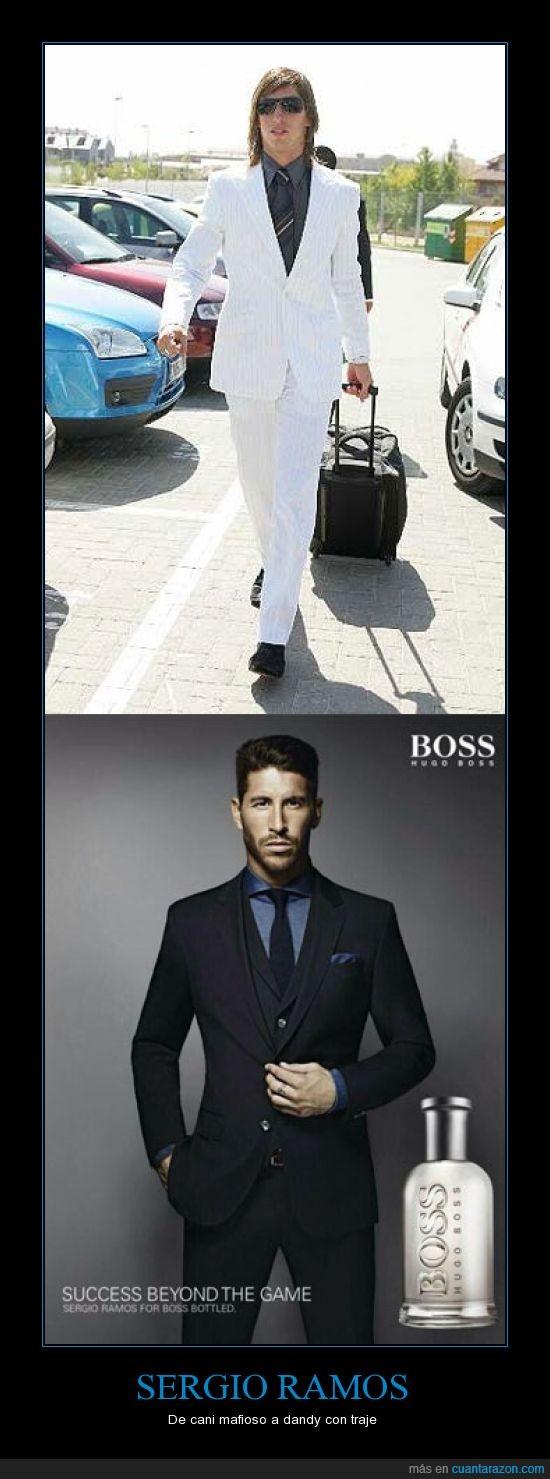 cani,elegante,evolucion,hugo boss,sergio ramos,traje