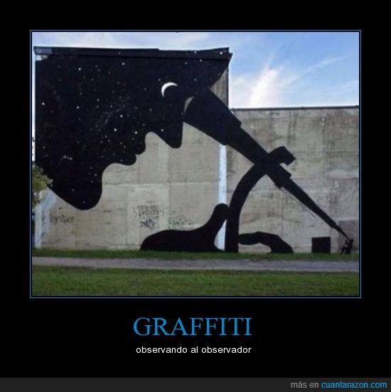 arte,barda,dios,mirar,noche,observador,observar,pared,pintura,universo