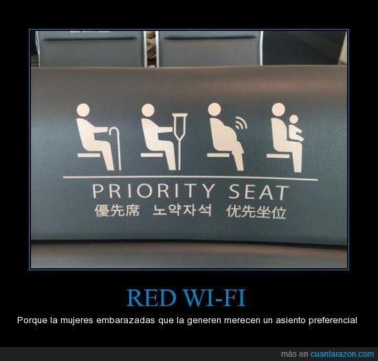 asientos,embarazo,mujeres,seria muy util al ir en el transporte,wifi