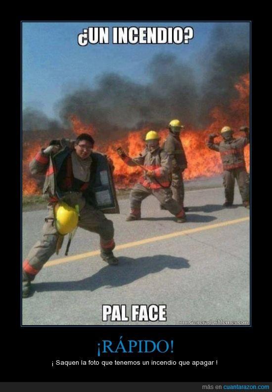 bomberos,foto,fotografia,incendio,pal face