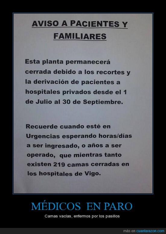 ayuda a los ricos,enfermeros,hospital,medicos,PP,privatización,sanidad,vigo