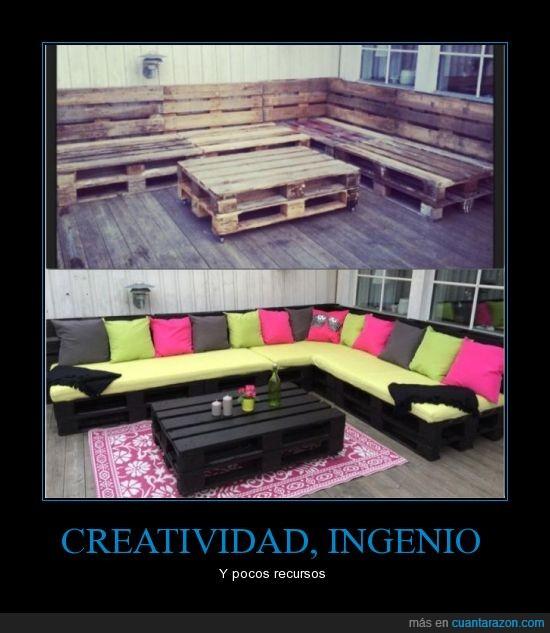 creatividad,diseño,madera,recicle,sillón