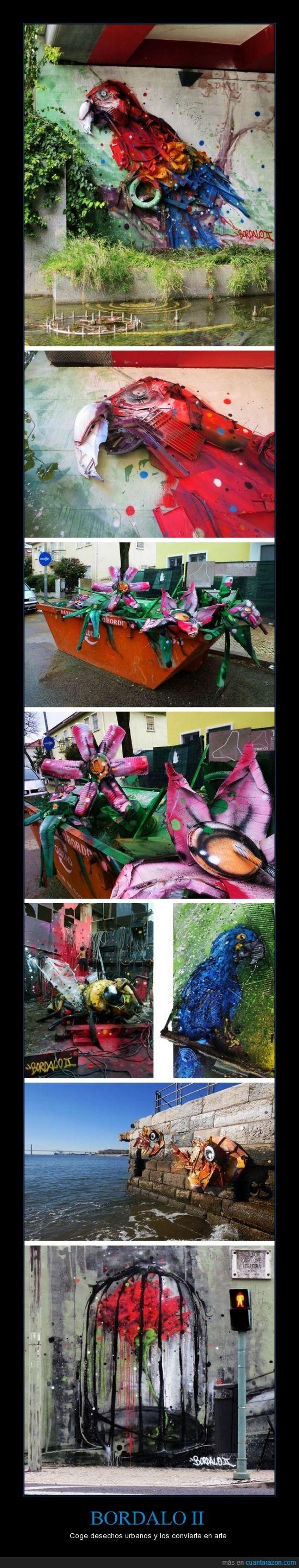 arte,Bordalo II,desechos urbanos,pintura