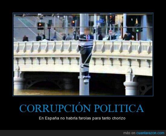 chorizo,corrupcion,farola,politica,poste,WTF