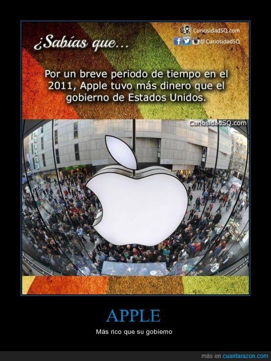apple,dinero,manzana,nación,ricos,superar,taringa