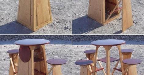 Esta mesa y estas sillas son lo mejor pensado que verás hoy