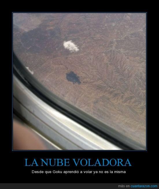 alone,avió,db,dbz,dragon ball,goku,nube,nube voladora,paisaje,sola,sombra