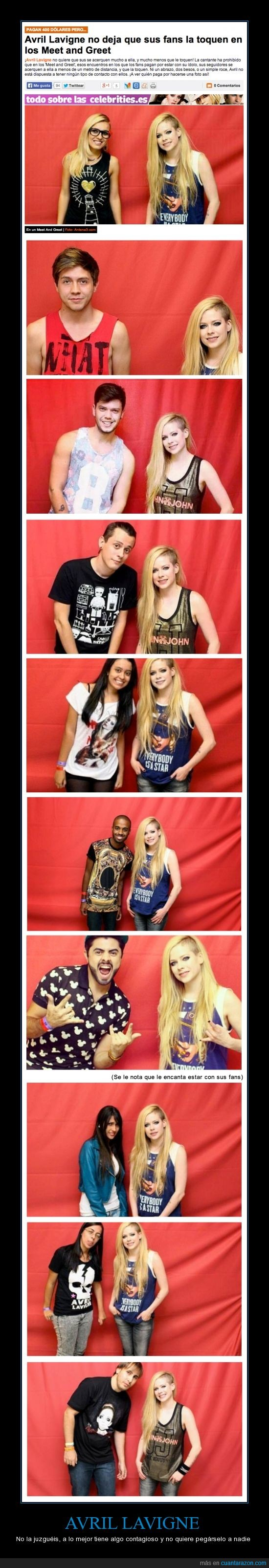 avril lavigne,borde,conocer,dinero,fans,foto,lejos,meet and greet,metro,pagar,tocar