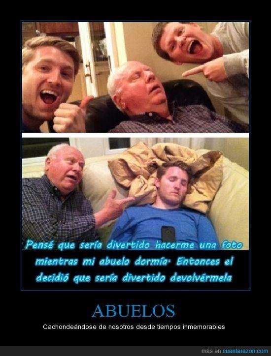 abuelo,broma,dormido,dormir,foto,hermano,pillar,troll