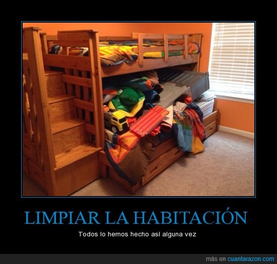 cama,chapuza,desorden,encima,habitación,niño,ordenar,todo