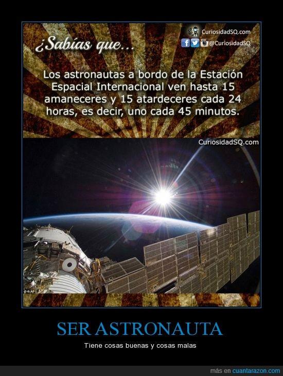 amanecer,astronauta,atardecer,eei,espacio,estacion espacial internacional,sol,ver