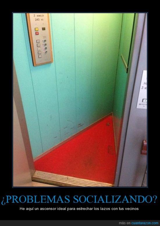 absurder,actualidad,ascensor,estrecho,triangular,vecinos