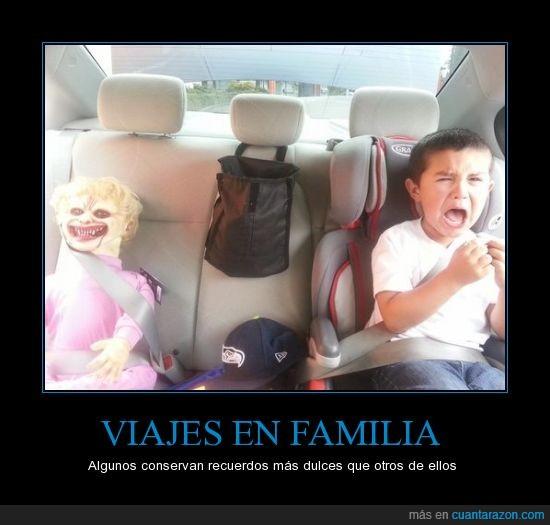 coche,malos padres,miedo,muñeco,niño,payaso,traumas,traumatizar
