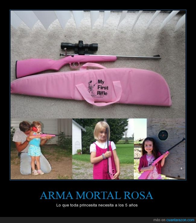 arma,disparo,inconciencia,niña,regalo,rifle