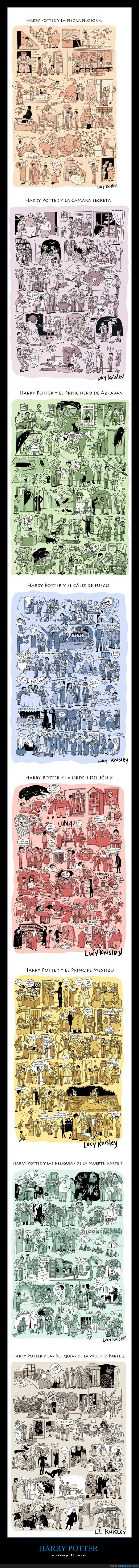 dibujos,harry potter,ll knisley,viñetas