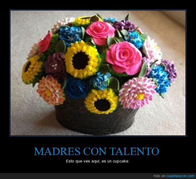 comer,cupcake,flores,madalena,madres,muffin,rico
