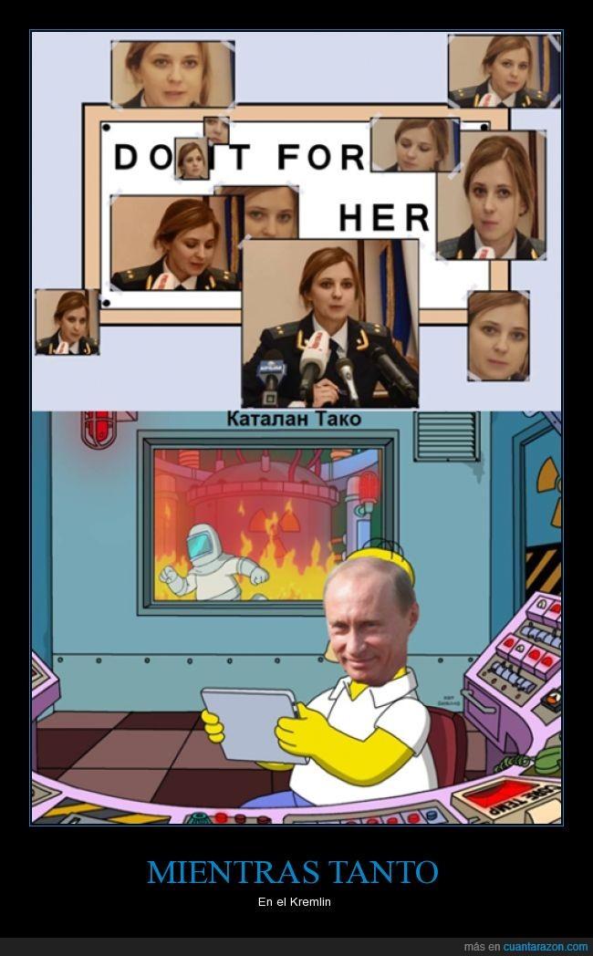 central nucelar,chica mona,Crimea,fiscal,Natalia Poklonskaya,Rusia,Simpsons,Ucrania,Vladimir Putin