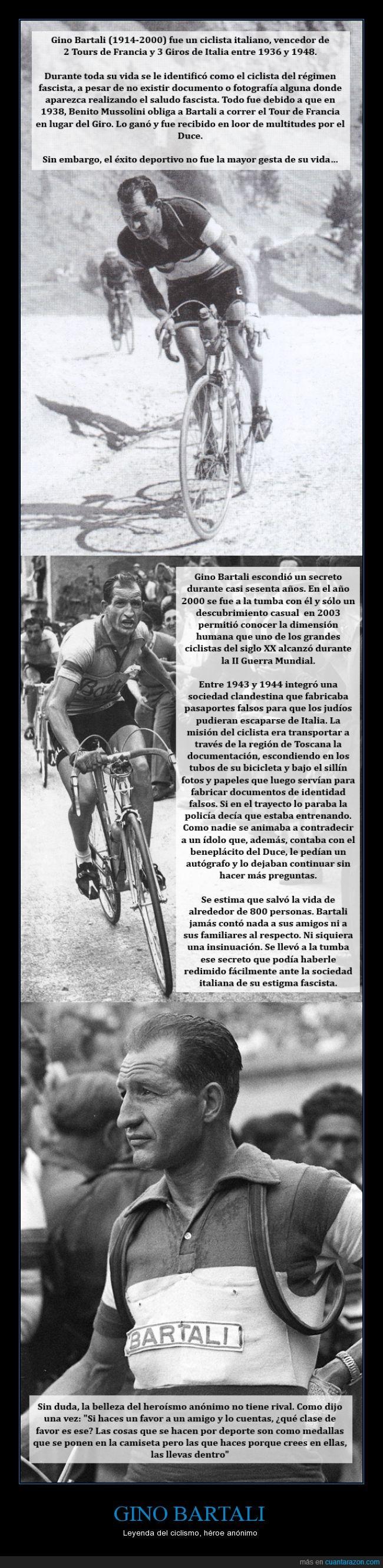 ciclismo,Gino Bartali,héroe,II Guerra Mundial,judíos