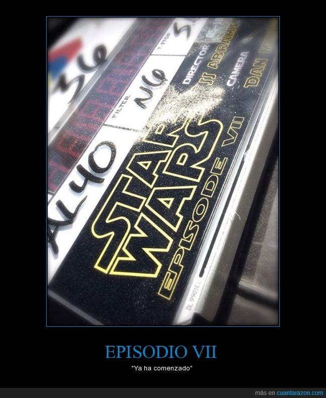 18 de diciembre de 2015,claqueta,episodio 7,rodaje,star wars