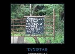 Enlace a ¡Paremos la caza indiscriminada de taxistas en los bosques!