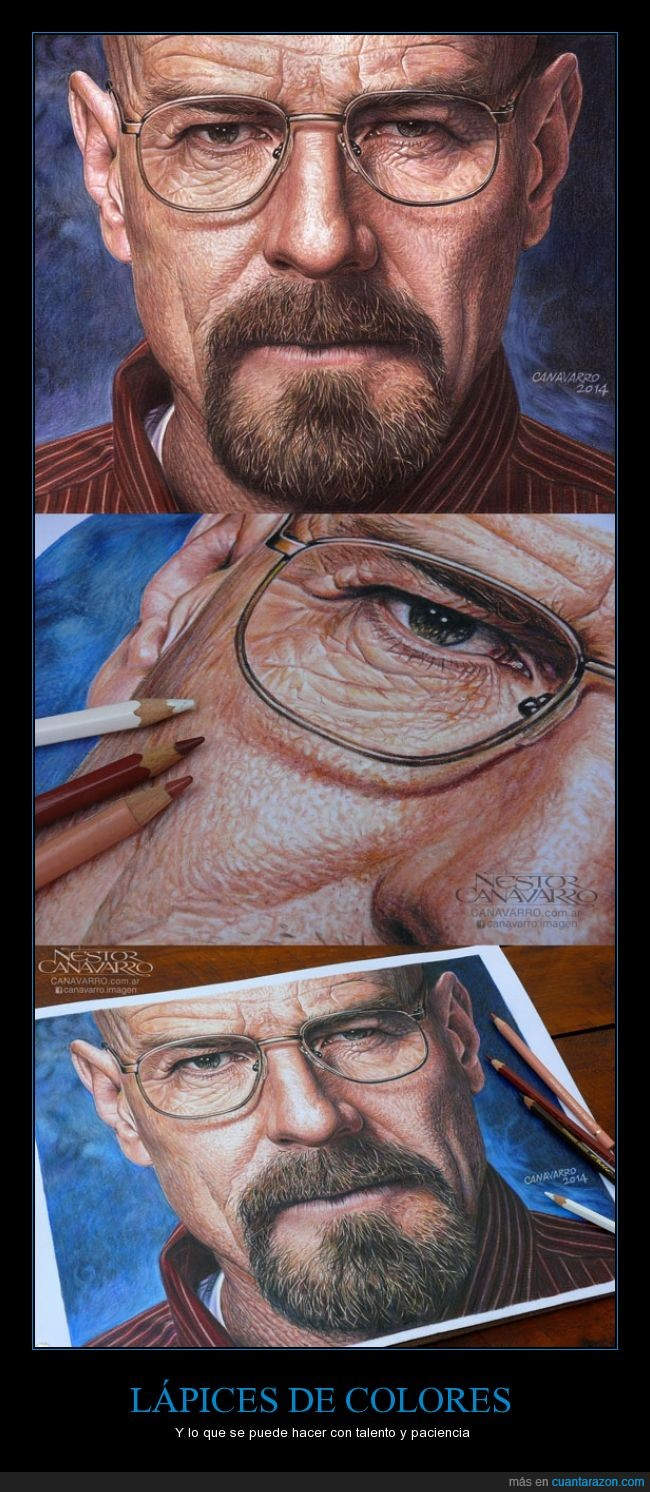 arte,breaking bad,bryan cranston,dibujo,hiperrealismo,ilustración,Lápices de color,retrato,walter white