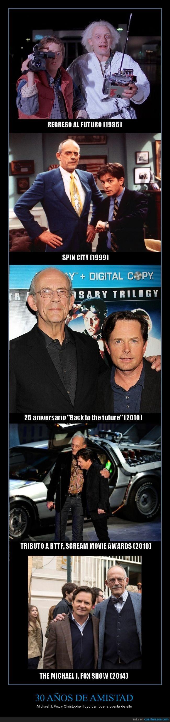 Christopher Lloyd,la amistad verdadera dura por siempre. Estos dos hombres son mis idolos y no me importa reconocerlo,Michael J. Fox,Regreso al futuro,Spin City