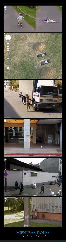 caida,Google Street View,humor,imagenes,muertos,ninjas graffiteros,niños
