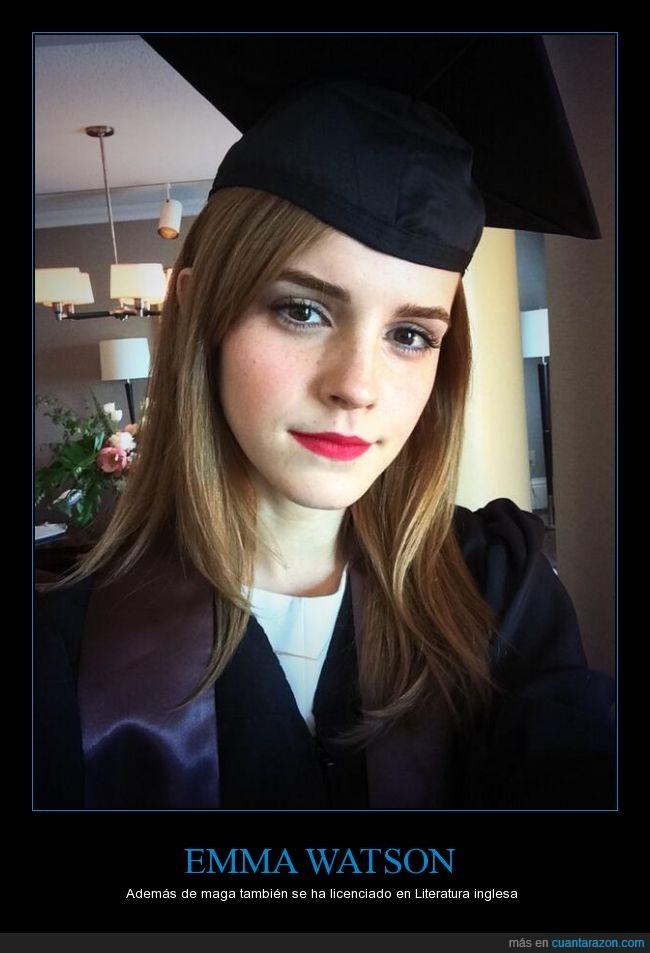graduacion,harry potter,hermione,licenciada,literatura