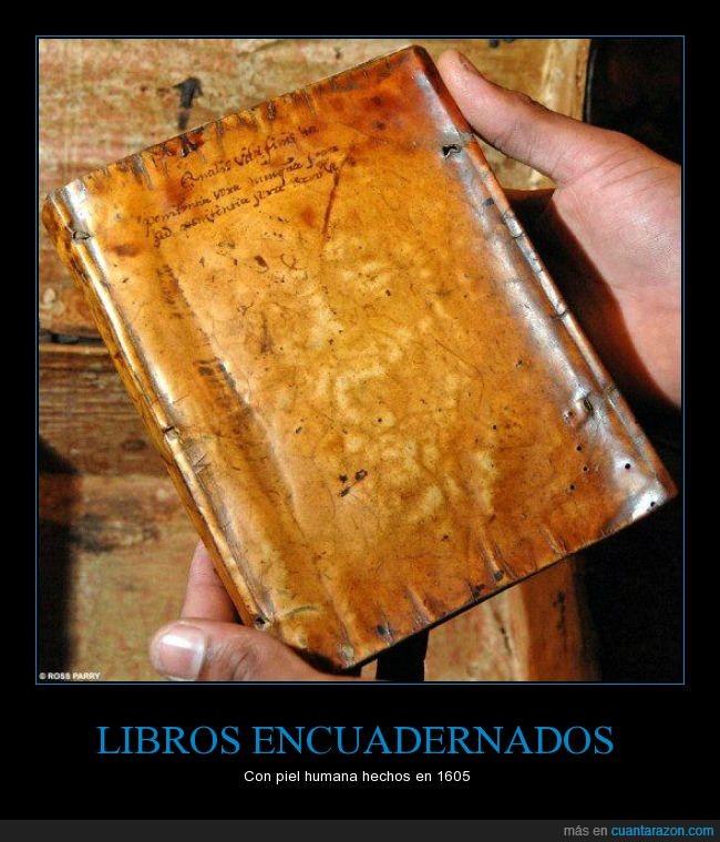 1605,libros,persona,piel humana,portada,tapa