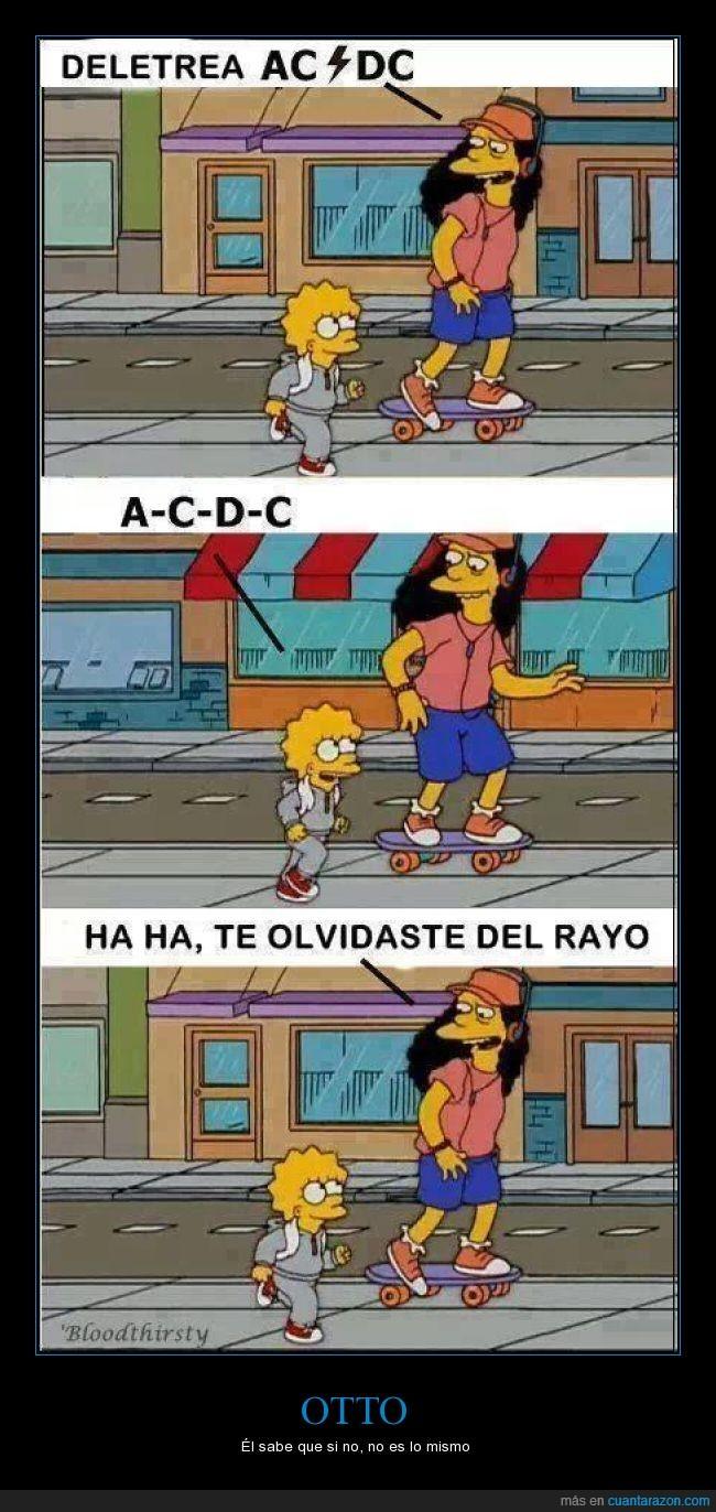 ac(rayito)dc,heavy,lisa,no es lo mismo,otto,simpsons