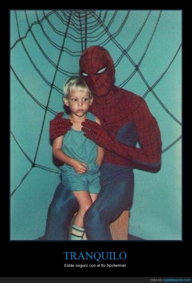 caritas,feliz,filo,mal rollo,miedo,pedo,precaucion,spiderman