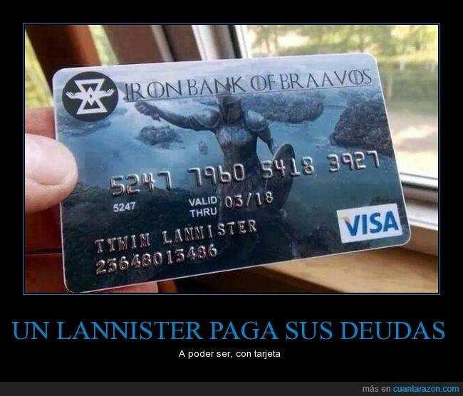 banco de hierro,bravos,iron bank of braavos,juego de tronos,tarjeta de credito