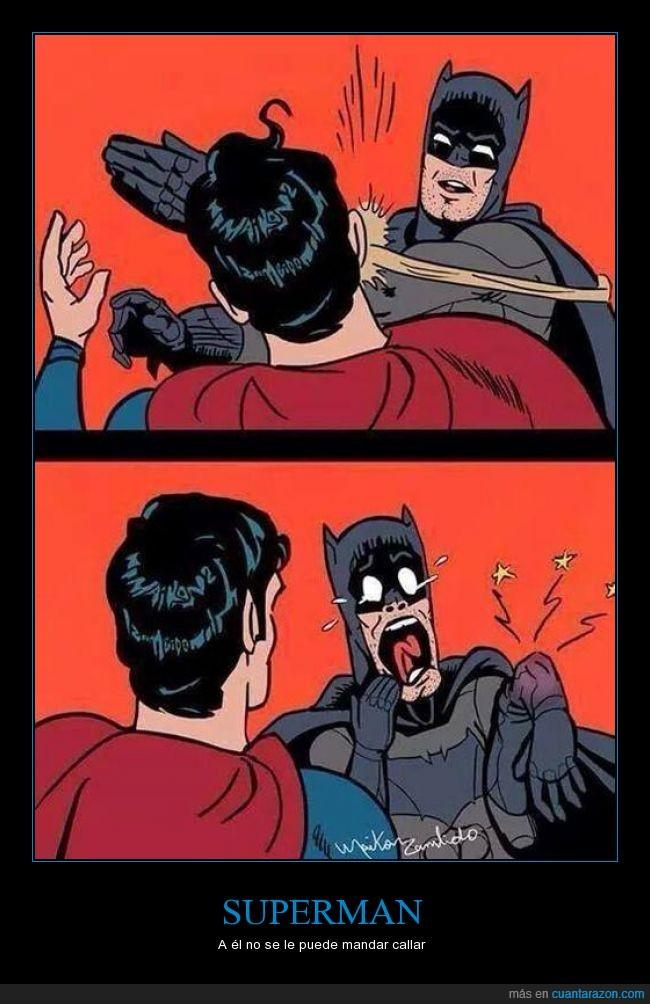 batman,cara,dolor,golpe,hostia,hueso,robin,romper,superman,torta