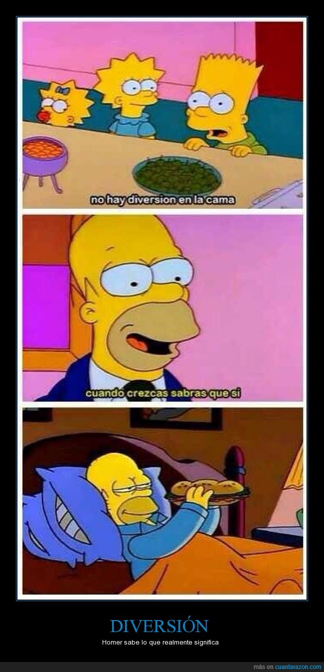 Bart,bocata,Cama,comer,Diversion,hijo,Homer,padre,Sandwich,Simpson