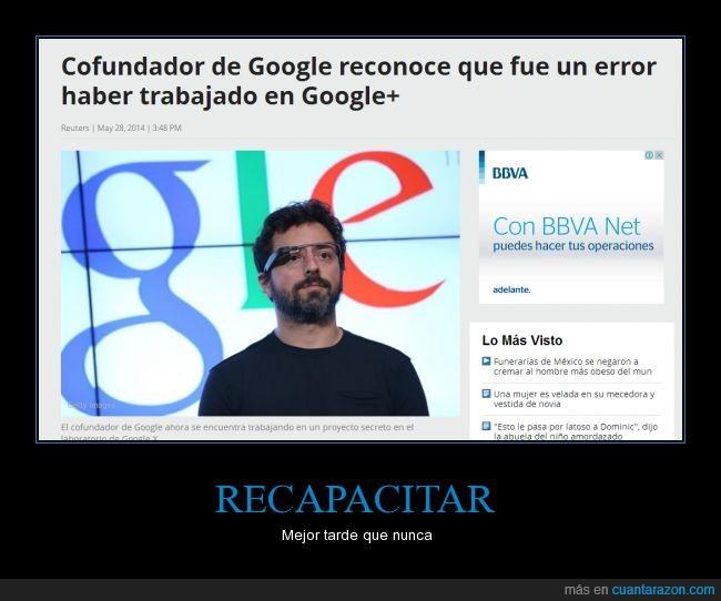 cofundador,error,google,google+,reconocer,red social