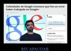 Enlace a ESTABA CLARO, Google + fue un error