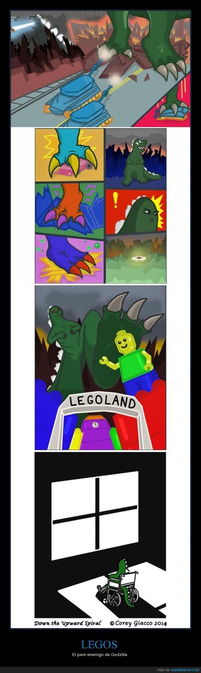 atacar,destruir,Godzilla,inválido,Legos,ruedas,silla