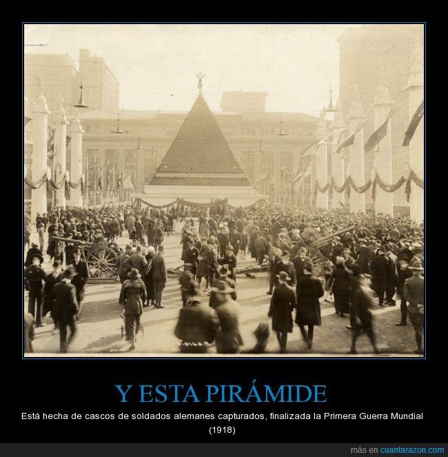 capturado,casco,monumento,Se quedaron pequeñas las piramides de los supermercados,soldado,victoria