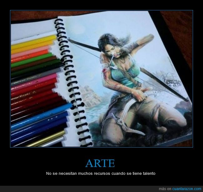 arte,colores,dibuja,madera,recursos,talento,tomb raider